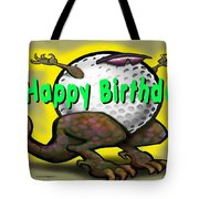 Golf A Saurus Birthday Tote Bag