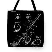 Golf Club Patent 1910 Black Tote Bag