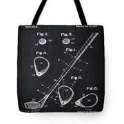 Golf Club Patent 1910 Chalk Tote Bag