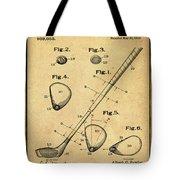 Golf Club Patent 1910 Sepia Tote Bag