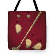 Golf Club Patent Drawing Dark Red 2 Tote Bag