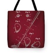 Golf Club Patent Drawing Dark Red Tote Bag
