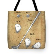 Golf Club Patent Drawing Vintage Tote Bag
