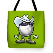 Golf Cowboy Tote Bag
