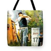 Golf In Club Fontana Austria 01 Dyptic Part 01 Tote Bag