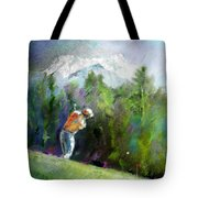 Golf In Crans Sur Sierre Switzerland 02 Tote Bag