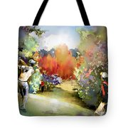 Golf In Gut Laerchehof Germany 02 Tote Bag