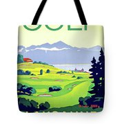 Golf, Lausanne, Switzerland, Travel Poster Tote Bag