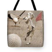 Golf Red Flag Vintage Photo Collage Tote Bag