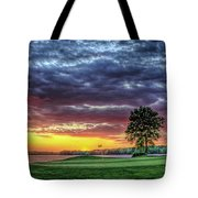 Golf Sunset Number 4 The Landing Reynolds Plantation Golf Art Tote Bag