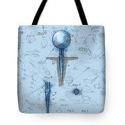 Golf Tee Patent Drawing Watercolor Tote Bag