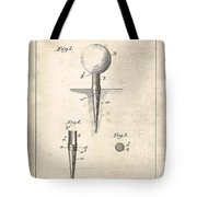 Golf Tee Patent - Patent Drawing For The 1899 G. F. Grant Golf Tee Tote Bag