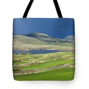 Golfing And Grazing Tote Bag