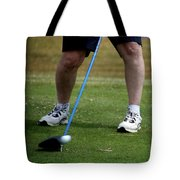 Golfing Driving The Ball In Flight Tote Bag