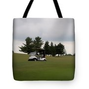 Golfing Golf Cart 02 Tote Bag