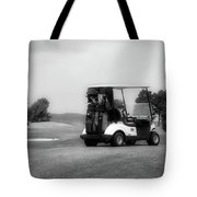 Golfing Golf Cart 06 Bw Tote Bag