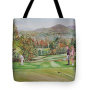 Golfing In Vermont Tote Bag