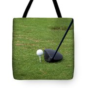 Golfing Lining Up The Driver Tote Bag