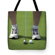 Golfing Lining Up The Putt Tote Bag