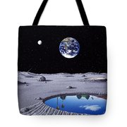 Golfing On The Moon Tote Bag