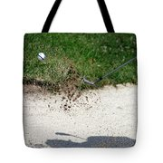 Golfing Sand Trap The Ball In Flight 01 Tote Bag