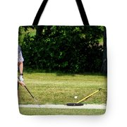 Golfing Sand Trap The Ball In Flight 02 Tote Bag
