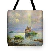 Golgotha Fantasy Impressionism Tote Bag by Isabella Howard