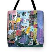 Gondola In A Venetian Canal Tote Bag