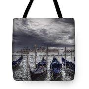 Gondolas In Front Of San Giorgio Island Tote Bag