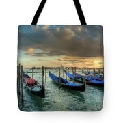 Gondolas Parked For The Evening Tote Bag