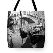 Gondole At Rialto Bridge Tote Bag