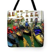 Gondoliers In Venice Tote Bag