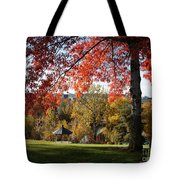 Gonzaga With Autumn Tree Canopy Tote Bag