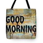 Good Morning Coffee Collage 9x12 Tote Bag