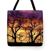 Good Morning Cows Colorful Sunrise Tote Bag