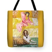 Good Morning Dogie Tote Bag by Mimi Eskenazi