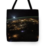 Good Morning From The International Space Station Tote Bag by Artistic Panda