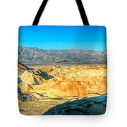 Good Morning From Zabriskie Point Tote Bag