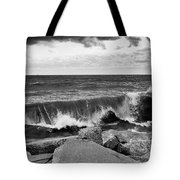 Good Morning In Black And White Tote Bag