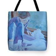 Good Morning Puppy Tote Bag