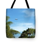 Goodyear Blimp Spirit Of Innovation In Florida Tote Bag