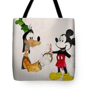 Goofy And Mickey Tote Bag