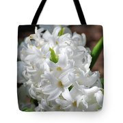 Goregeous White Flowering Hyacinth Blossom Tote Bag