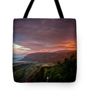 Gorge Sunset Tote Bag