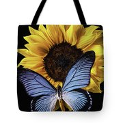 Gorgeous Blue Butterfly Tote Bag