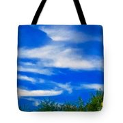 Gorgeous Blue Sky With Clouds Tote Bag