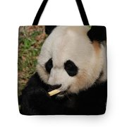 Gorgeous Face Of A Giant Panda Bear With Bamboo Tote Bag