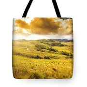 Gorgeous Golden Sunset Field  Tote Bag
