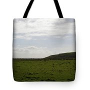 Gorgeous Grass Field With Clouds In Ireland Tote Bag
