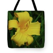 Gorgeous Yellow Daylily In A Garden Blooming Tote Bag